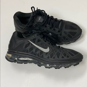 Nike Air Max Women's Black Silver Sneakers Size 8